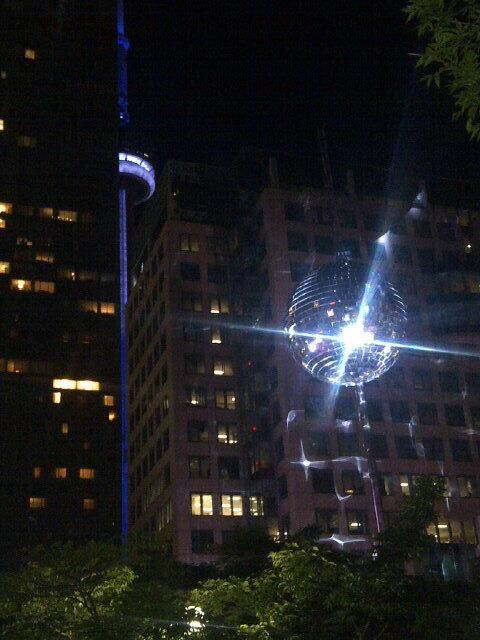 Bright lights, blue lights, big city! #Luminato #artmatters tweeted by Kristyn Wong-Tam 黃慧文