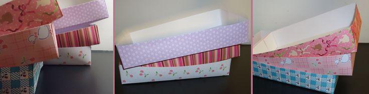 DIY papieren bakjes eenvoudig met patroon blaadjes;gemaakt voor tijdens het knutselen b-day party Nina'tje