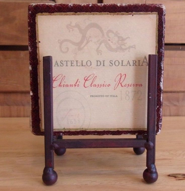Vintage Wine Label Tile Coaster Set Rustic Italian Country #ConniesCustomCreations #Vintage #Coasters