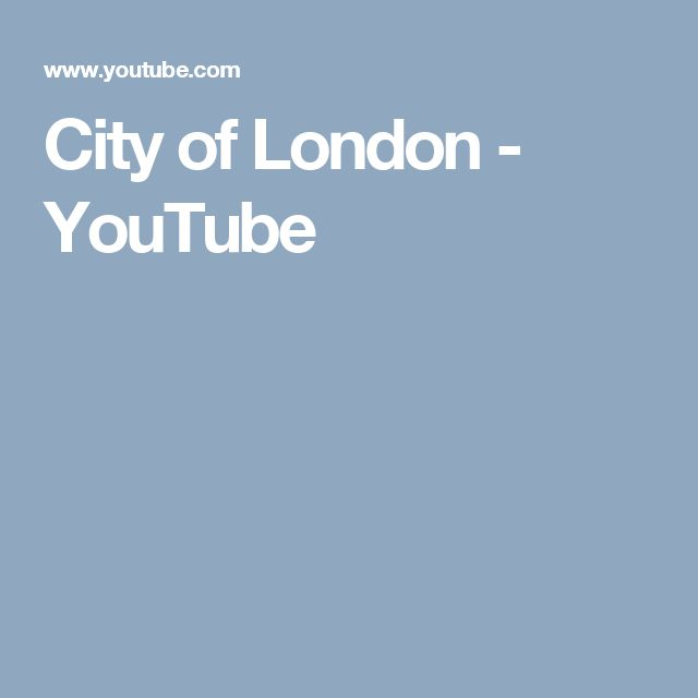 City of London - YouTube