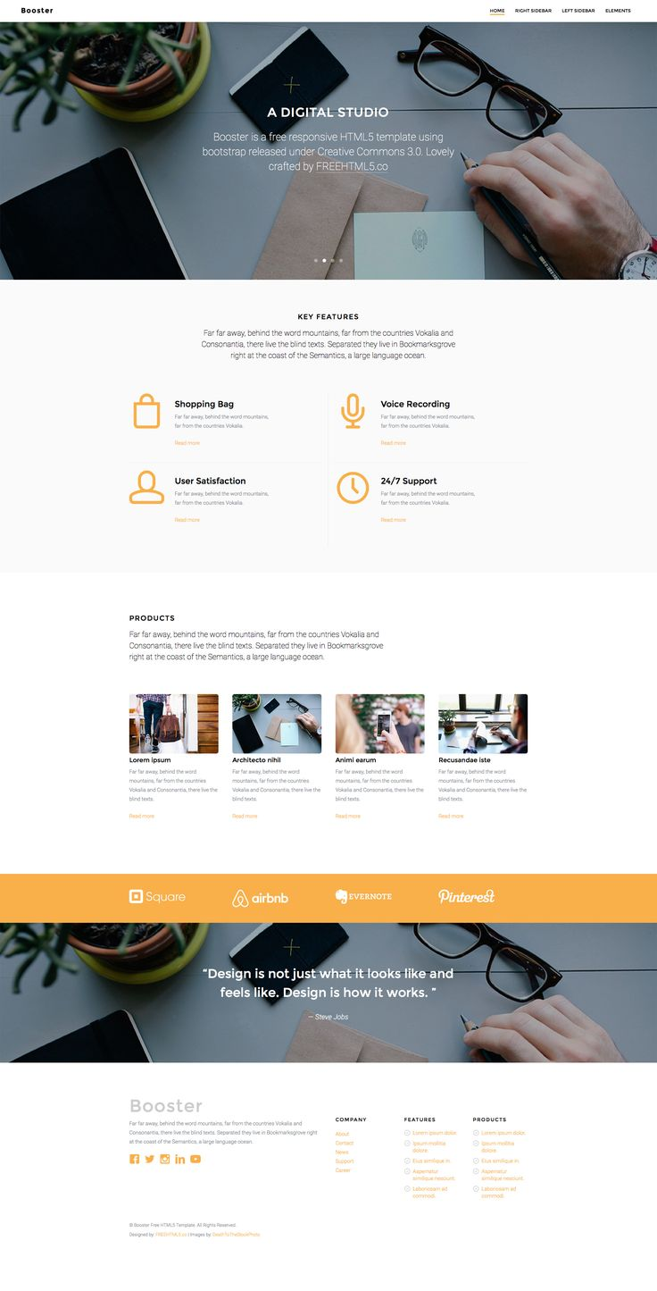 Divorce Letter Template Free%0A Booster is an elegant free responsive HTML  Bootstrap Business Template  that is suitable for landing pages