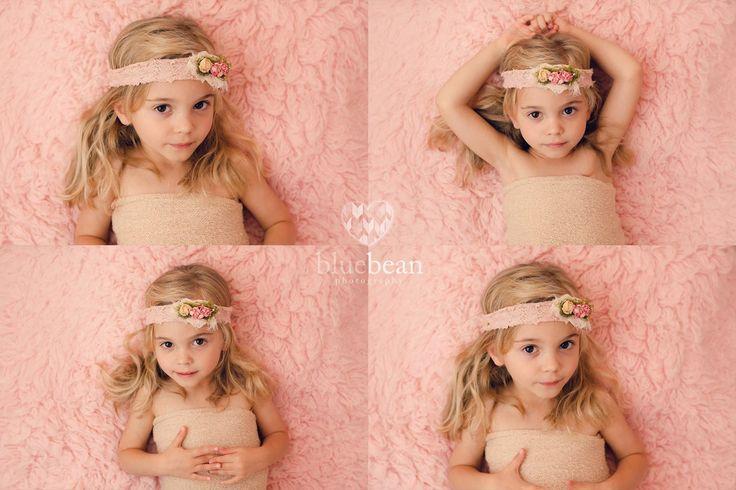 baby girl, toddler, age 4, session, pink, flokati, blonde, kids photography