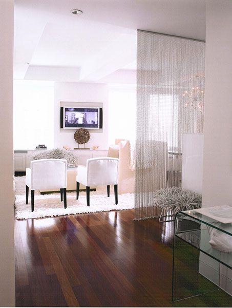 Chain Mail as room divider Elaine Griffin Interior Design
