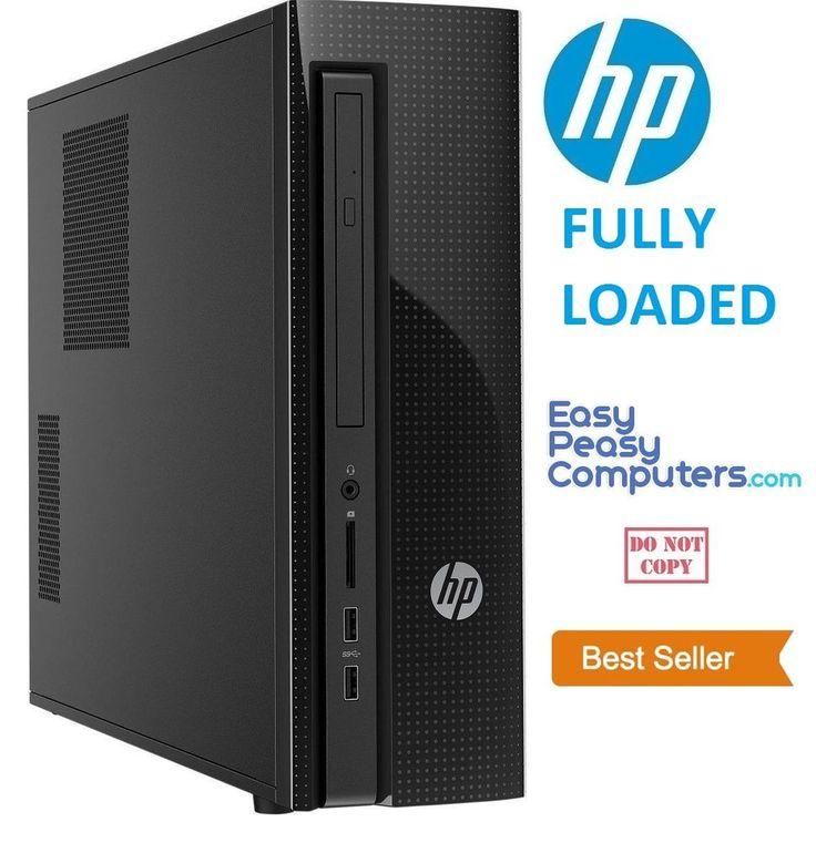 NEW FAST HP Desktop Computer PC Tower Windows 10 4GB 1TB WIFI (FULLY LOADED) #HP