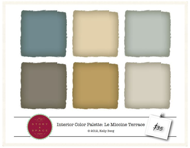Le Miccine Terrace   Interior Color Palette   $35