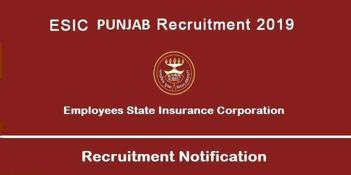 Esic Punjab Recruitment 2019 For 83 Posts With Images