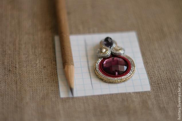 Красивая изнанка к сутажным сережкам - Ярмарка Мастеров - ручная работа, handmade