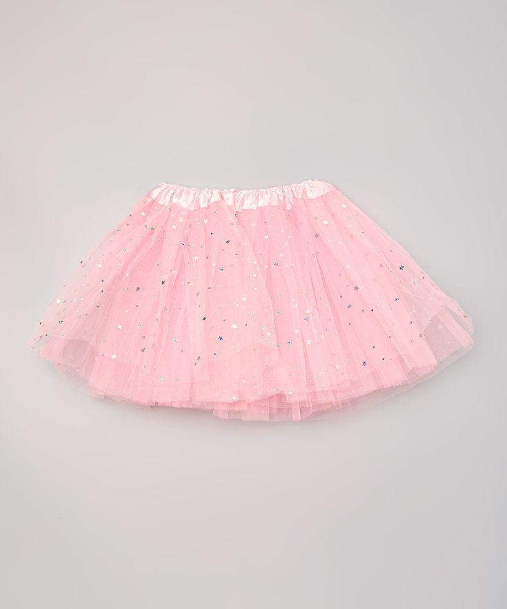 Pink Sparkle Star & Dot Tutu - Girls