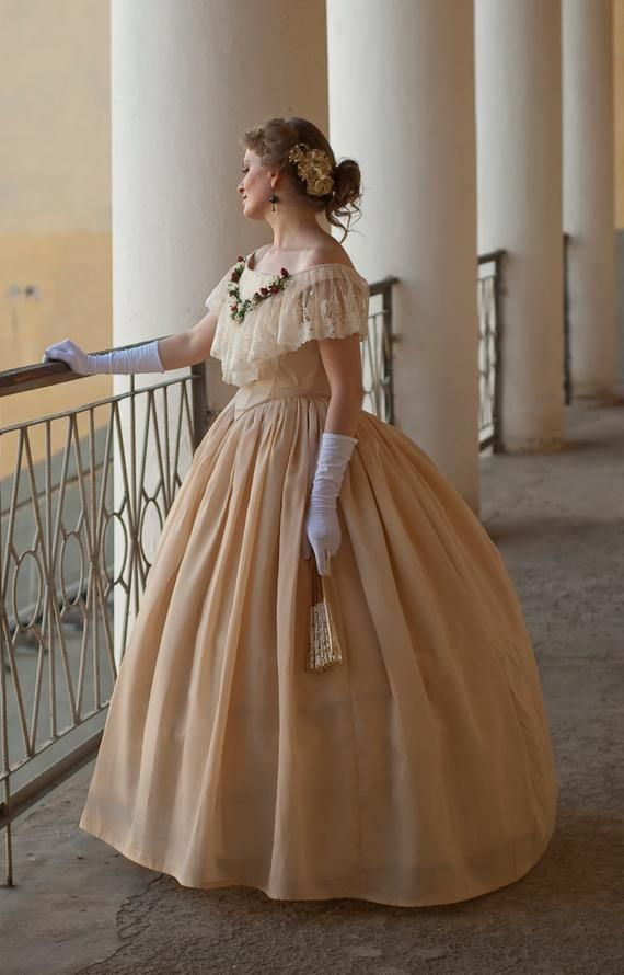1860s Ball Gown American Civil War Dress North Amp South