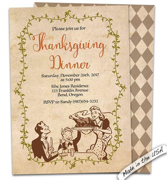 60 best thanksgiving images on pinterest invites thanksgiving