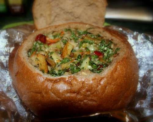 Рецепт фаршированного хлеба