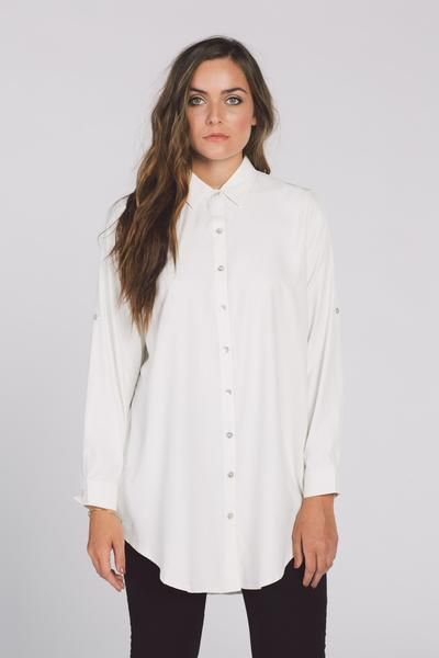 The Oversized White Button Down