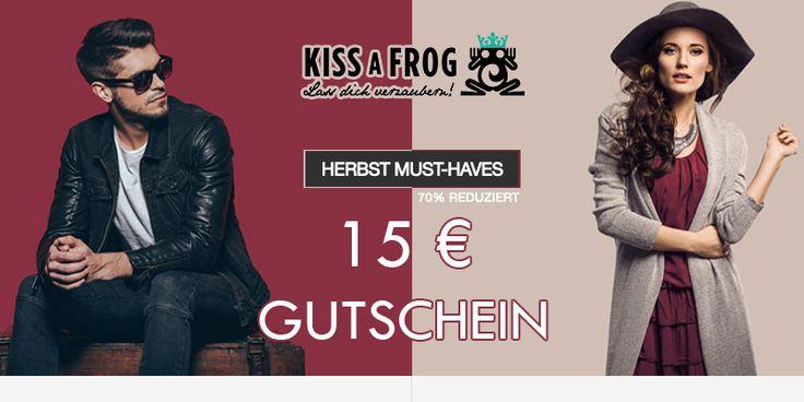 15,00 € Rabatt auf die aktuellen Herbstkollektionen bei KISSaFROG