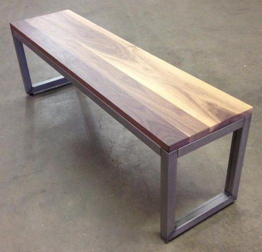 "Loft Bench Seat Natural Sage: Loft 54"" Dining Bench Seat Finish: Walnut, Frame Color"