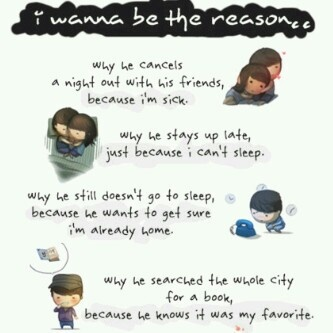 I wanna be the reason..