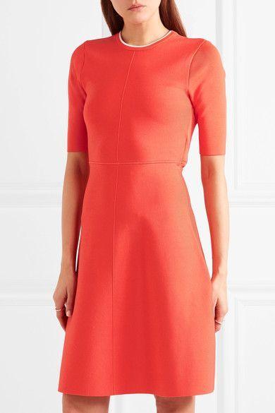 Orange and white ribbed jersey Slips on 88% viscose, 11% nylon, 1% elastane Dry clean