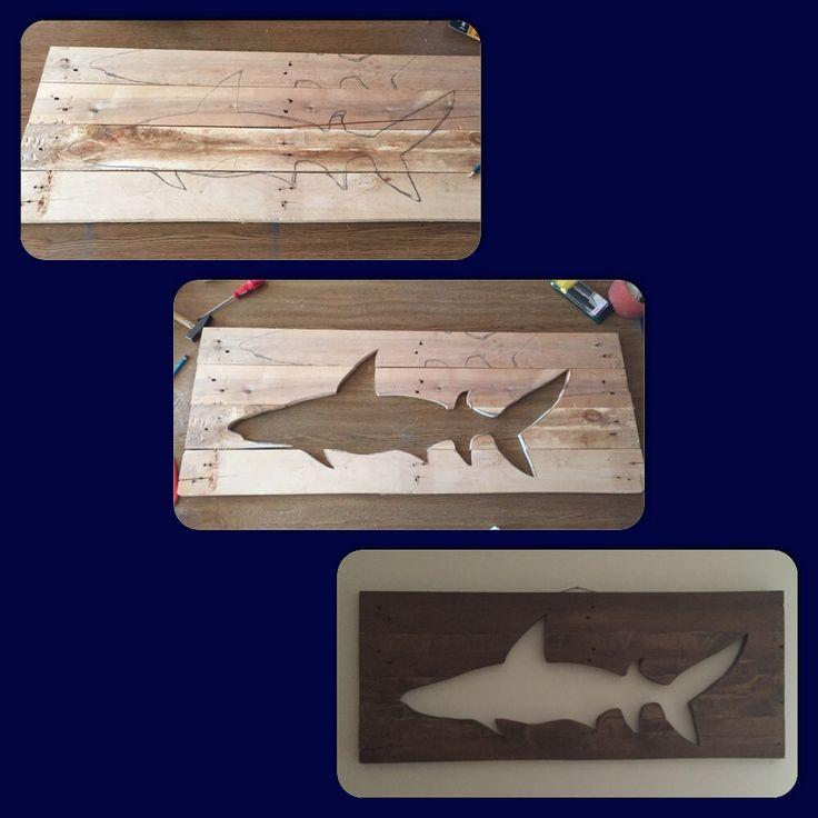 Shark wood art