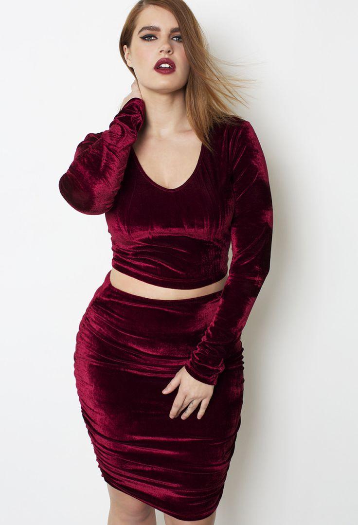Grisel wine velvet set pre sale shop women s missy amp plus size