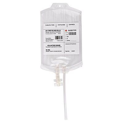 Amazlab Reusable Blood Pack Drink Container Set of 10 IV Container/Bag 11.5 Fl