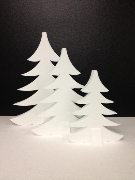 XMAS musthave! Kerstbomen van piepschuim: 30, 40 en 50 cm. Simpel, mooi, strak wit, maar ook leuk om zelf te versieren. Check http://facebook.com/piepschuim.kerstbomen