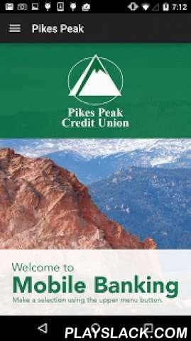 """Pikes Peak Credit Union Mobile  Android App - playslack.com ,  Access your accounts at Pikes Peak Credit Union on your mobile device 24 hours a day, 7 days a week with our FREE Mobile Banking App! Use it to check your balances, view your transaction history, transfer money, pay your bills, find a branch and more. You can also locate surcharge-free ATMs nationwide! Our mobile banking app allows you to access your accounts using your existing Pikes """"Peek"""" Online login ID and password.FEATURES…"""