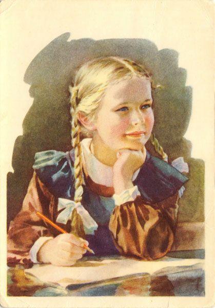Gallery.ru / Фото #10 - Здравствуй, школа! Старые советские открытки. - Anneta2012