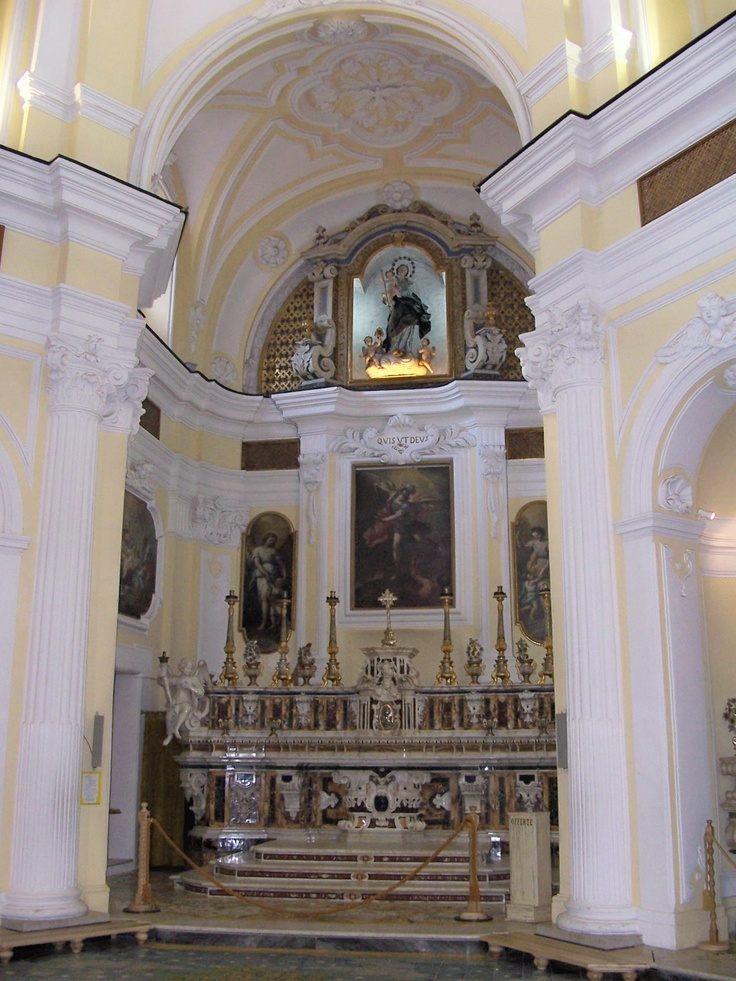 St. Michael's Church Main Altar. Anacapri, Italy