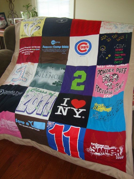 Upcycled Tee Shirt Quilt Custom Made From By