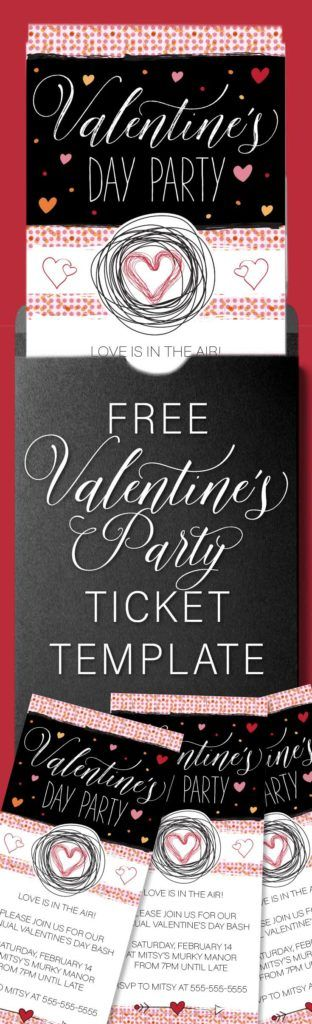 Valentine's Day Party Invitation Template. Perfect if you're looking for a free Valentine's Day party invite for a last minute celebration of love. #freeprintable #printable #freeprintables