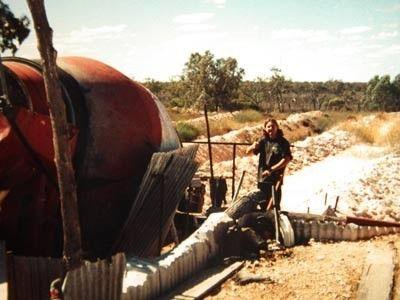 Opal Mining fields At Lightning Ridge  wash at agitator