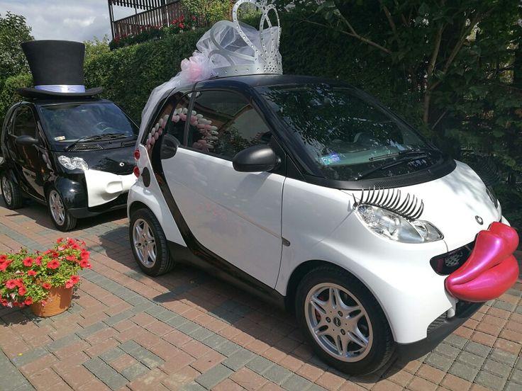 #SmartPara gotowa by zawieźć Mariole i Wojciecha do ołtarza :) www.smart-line.pl #zwariowanewesela #smartline #smartydoslubu #samochodnawesele #weddingcar #funycar #smartcar #atrakcjeslubne #wedding #justmarried