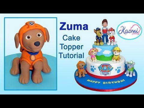 Paw Patrol (Cake Topper): Zuma / Patrulla de cachorros: Cómo hacer a Zuma - YouTube