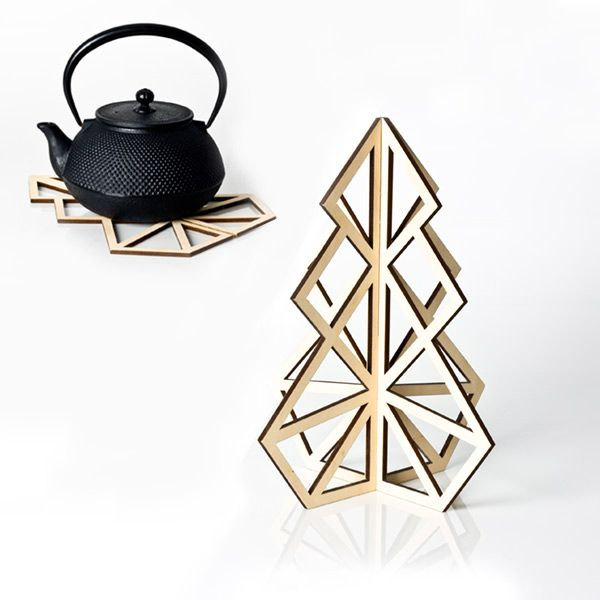 treepot 3D decorative trivet