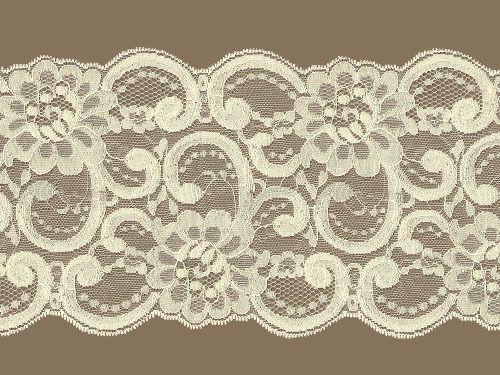Ivory Galloon Lace Trim w / Sheen - 5.75'' (IV0534G01)