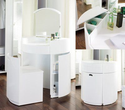 dwell hideaway dressing table white amazoncouk kitchen u0026 home h85