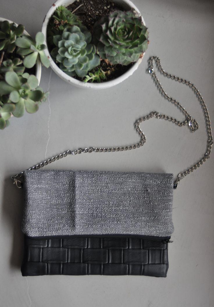 Pochette texture gris&noir