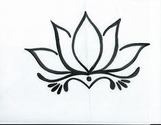 Simple Lotus Flower Drawing Tattoo Tattoo ideas pinterest