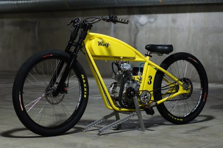 Bicicleta motorizada por Wolf Customs Criative