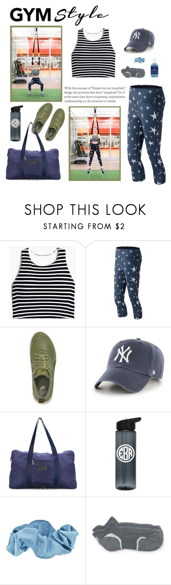 """""""gym style"""" by redressingbloggers ❤ liked on Polyvore featuring New Balance, NIKE, '47 Brand, adidas, Forever 21, Sweaty Betty and Kiehl's"""