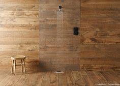 Carrelage imitation bois du sol au plafond
