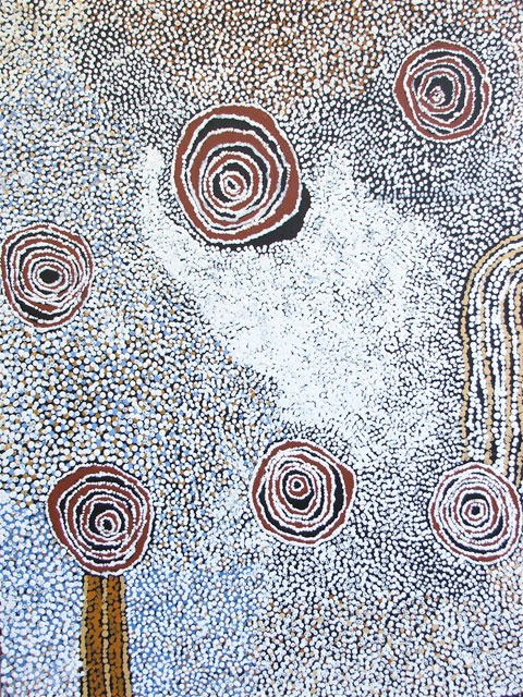 Bill Whiskey Tjapaltjarri  Rockholes near the Olgas, 2008