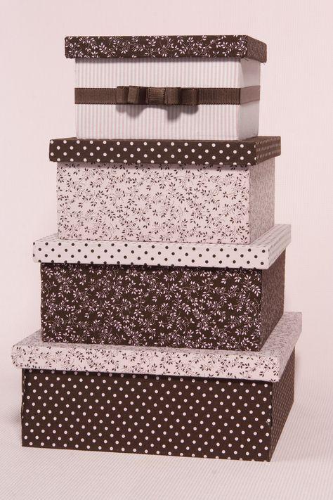 Flor de Pano Atelier: Caixas de madeira forradas de tecido