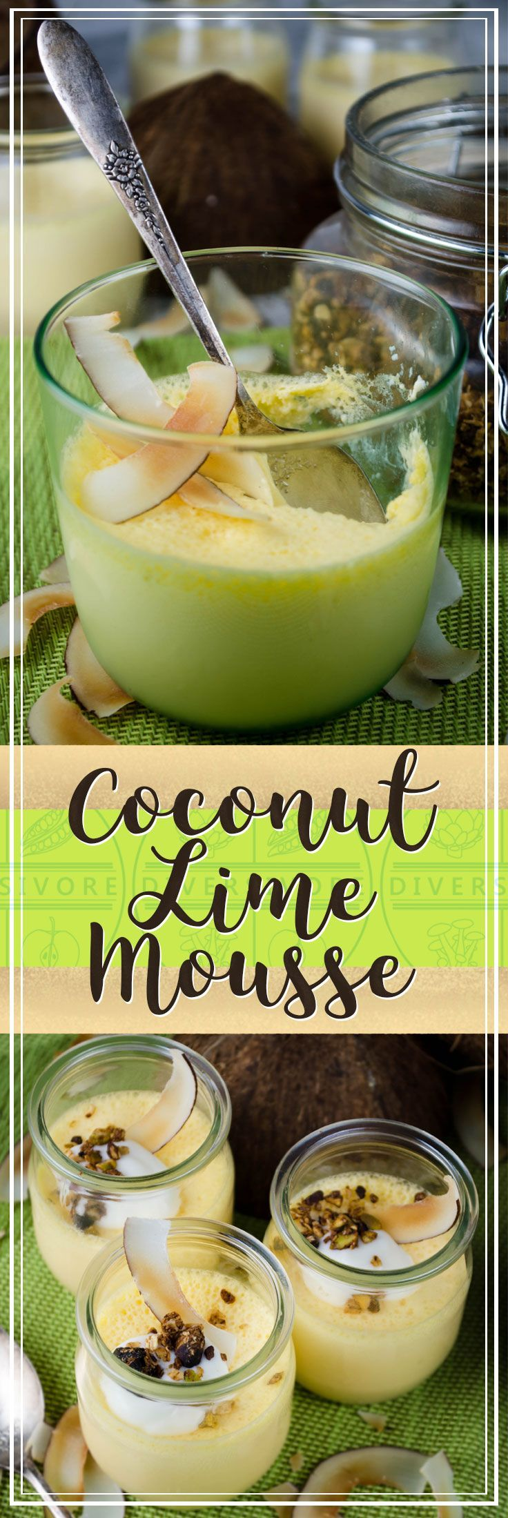 Coconut Lime Mousse - simple, delicious, and surprisingly healthy (#sponsored)