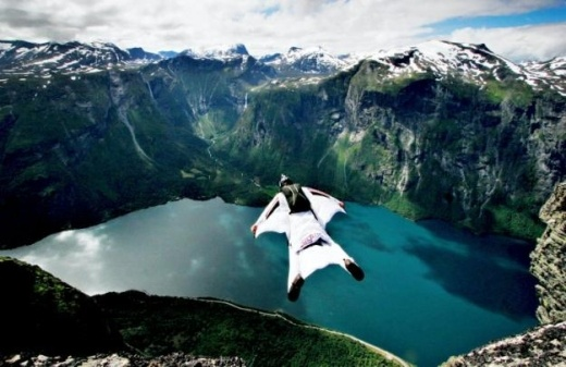 Just watched a documentary on this....so cool!!! Norway: Base jumping; wingsuit.