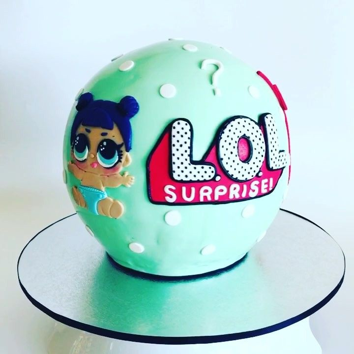 Lol Surprise Ball Cake Complete With Lol Little Sister Doll