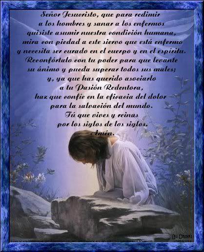 oracion por la paz   Oracion_por_salud_IR.jpg Oracion para los enfermos image by chicapr
