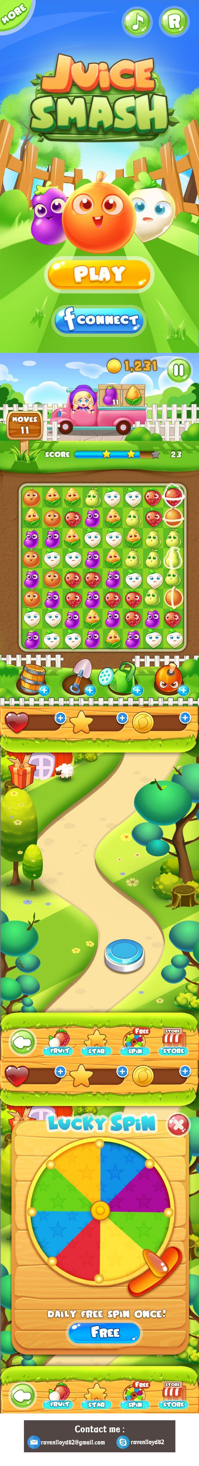 Mobile game -Juice Smash on Behance
