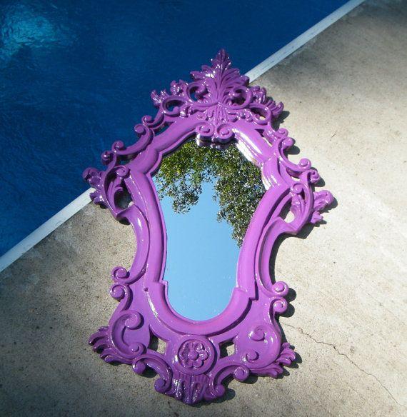 $119 Ornate Purple mirror #gypsy #bohemian #decor