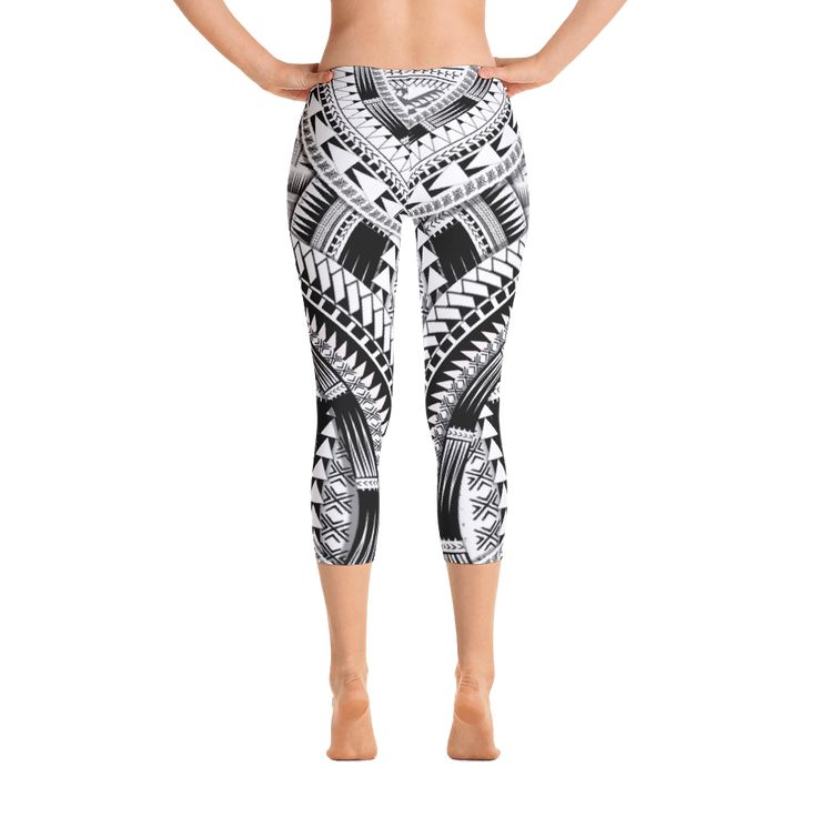 Capri Leggings - Samoan Mix Designs