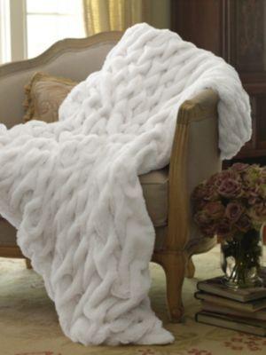 Paris Faux Fur Throw - Faux Fur Throw, Fur Throw Blanket, Sofa Throw | Soft Surroundings